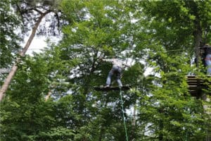 Gute Luft im Kletterwald