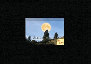 Gesundheitsmond Mondkalender 2019