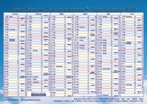Gesundheitsmond Mondkalender Tafelkalender